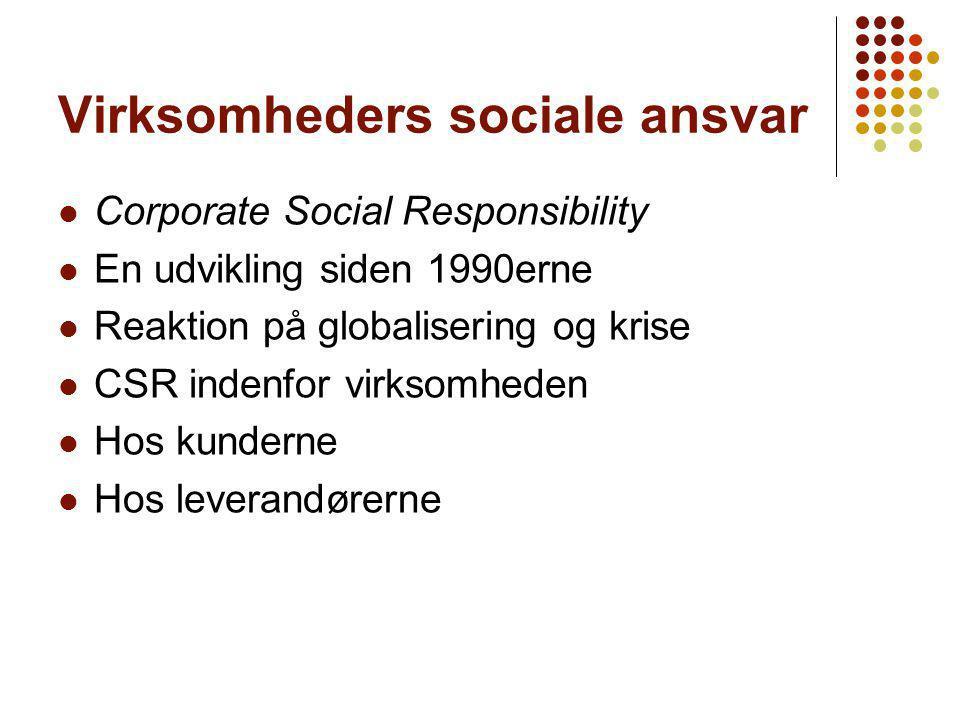 Virksomheders sociale ansvar