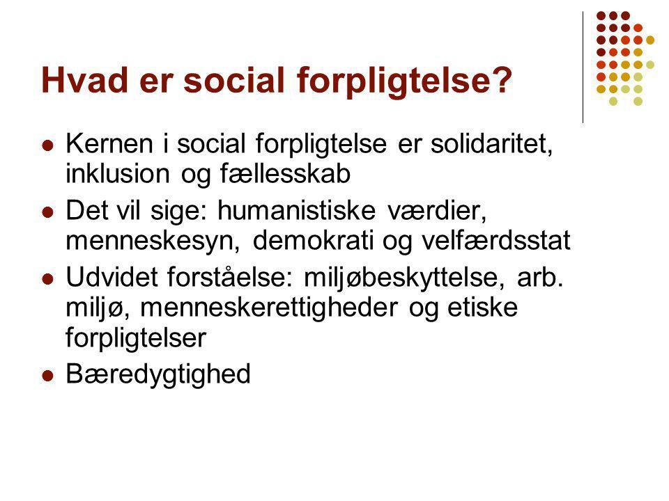 Hvad er social forpligtelse