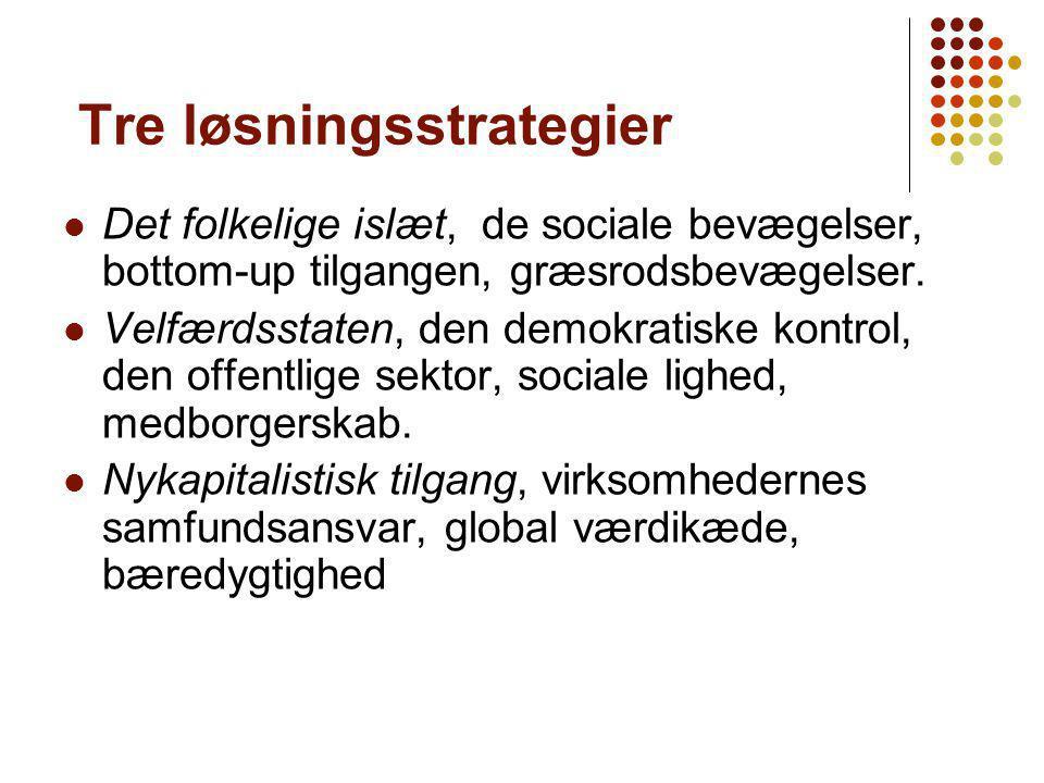 Tre løsningsstrategier