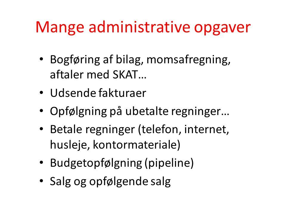 Mange administrative opgaver