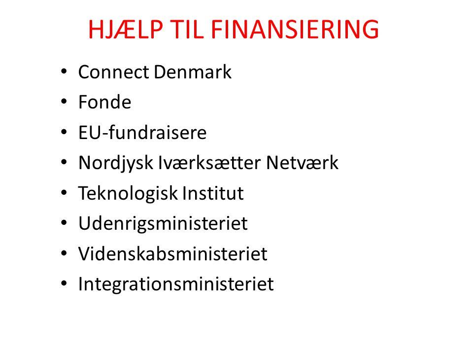 HJÆLP TIL FINANSIERING