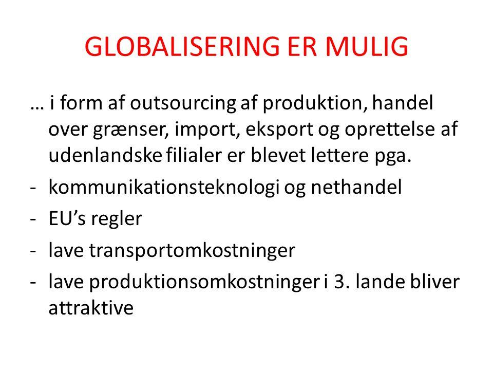 GLOBALISERING ER MULIG