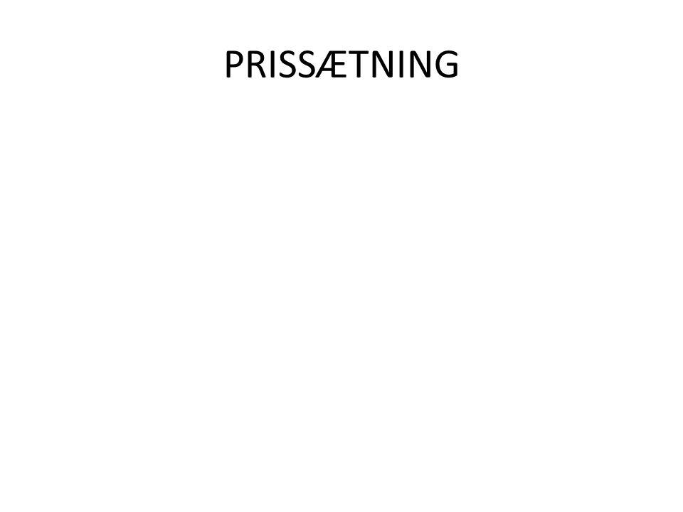 PRISSÆTNING
