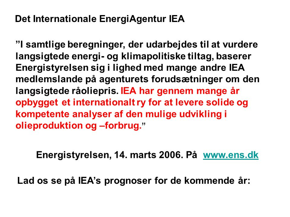 Det Internationale EnergiAgentur IEA