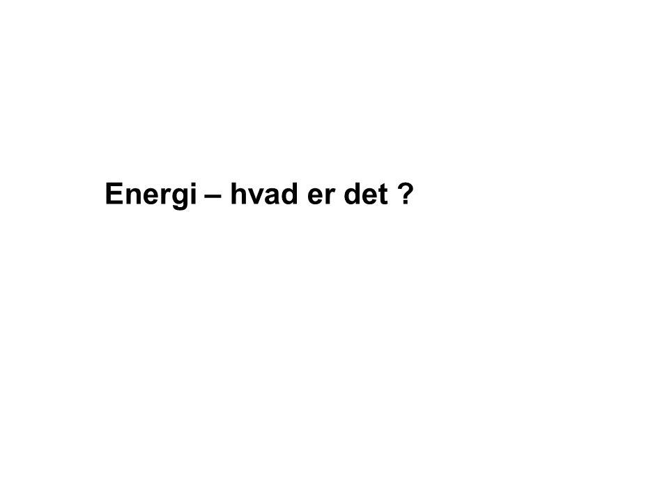 Energi – hvad er det