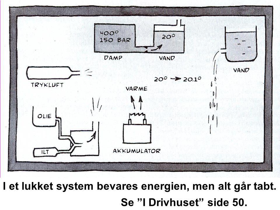 I et lukket system bevares energien, men alt går tabt.
