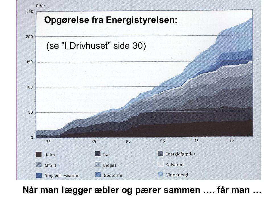 Opgørelse fra Energistyrelsen:
