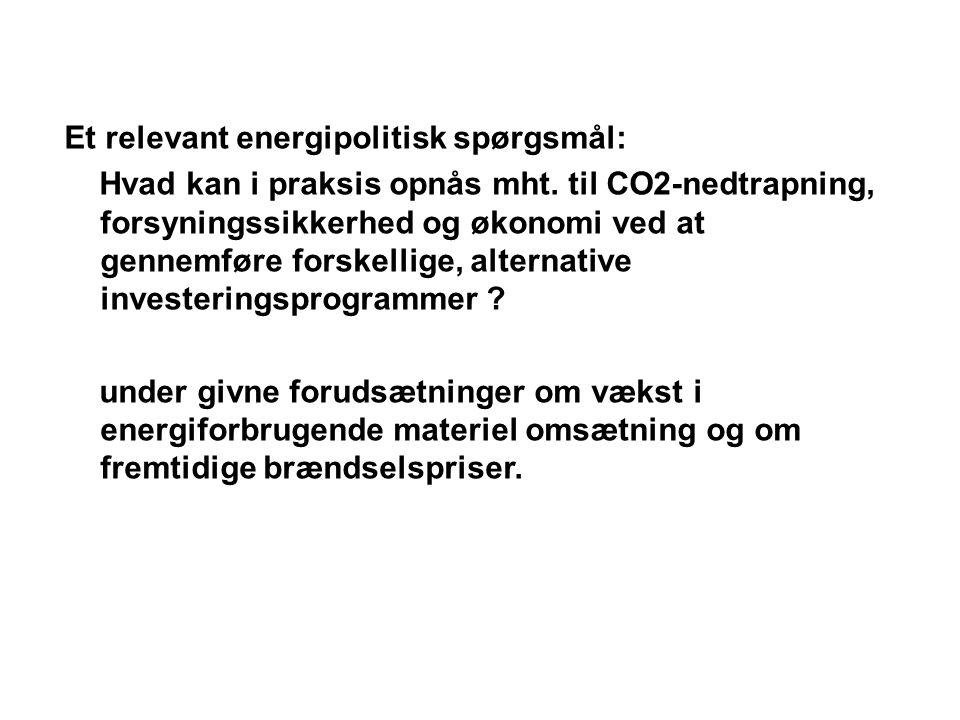 Et relevant energipolitisk spørgsmål: