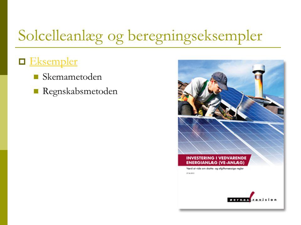 Solcelleanlæg og beregningseksempler