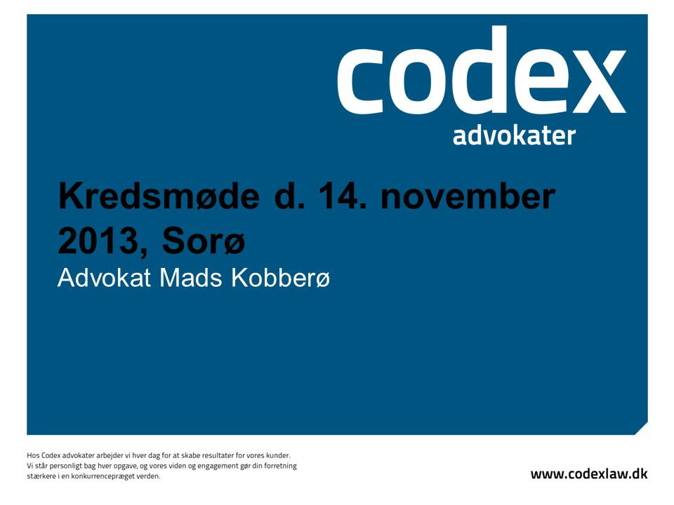 Kredsmøde d. 14. november 2013, Sorø