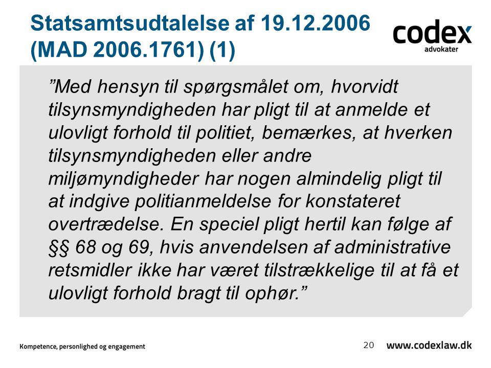 Statsamtsudtalelse af 19.12.2006 (MAD 2006.1761) (1)