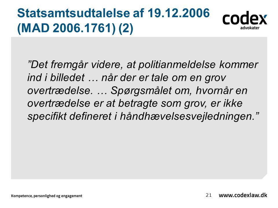 Statsamtsudtalelse af 19.12.2006 (MAD 2006.1761) (2)