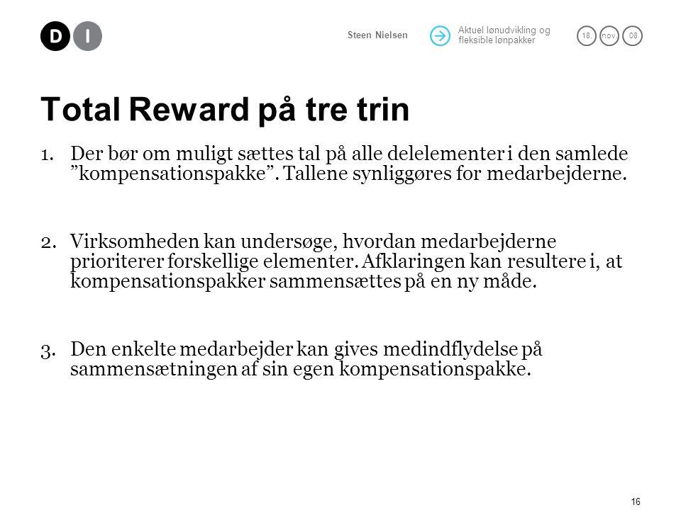 Total Reward på tre trin