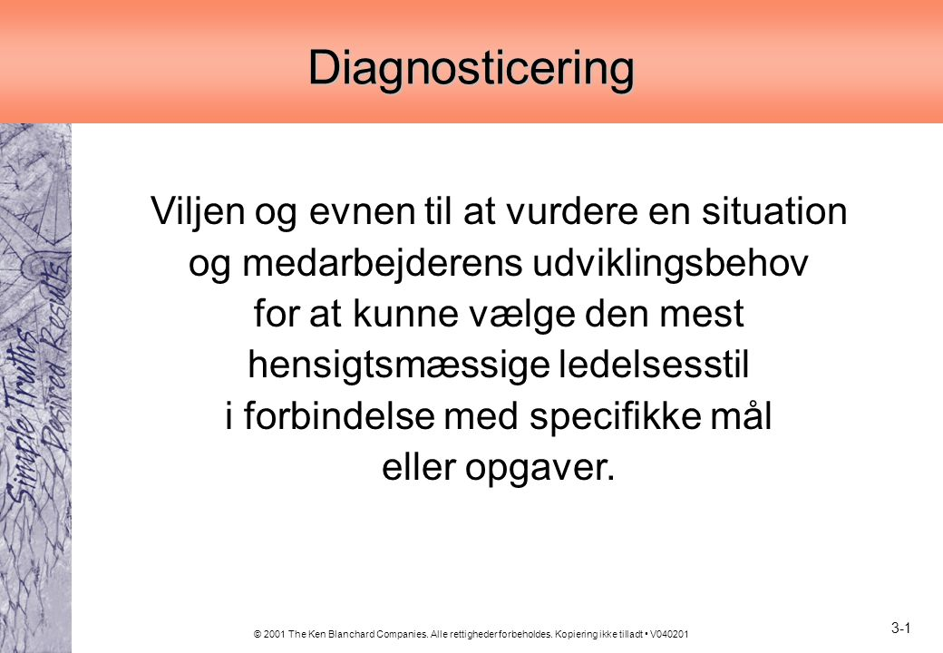 Diagnosticering
