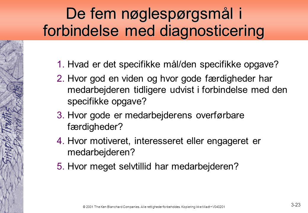 De fem nøglespørgsmål i forbindelse med diagnosticering