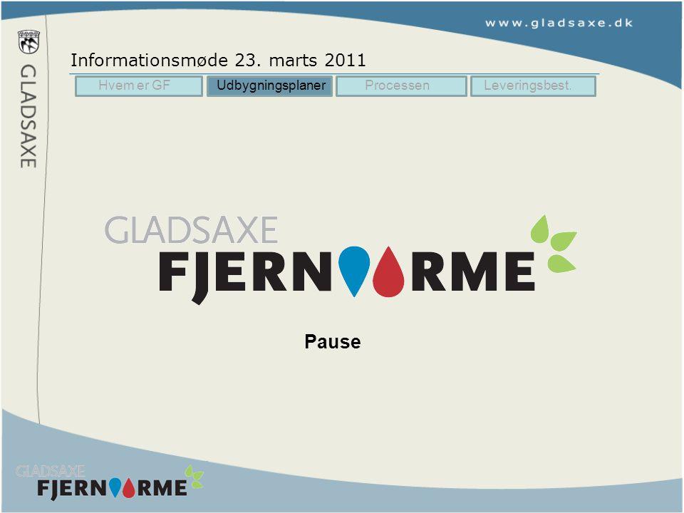 Pause Informationsmøde 23. marts 2011 Hvem er GF Udbygningsplaner