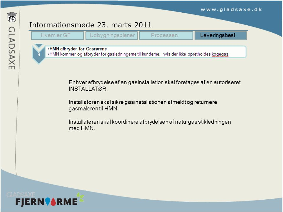Informationsmøde 23. marts 2011