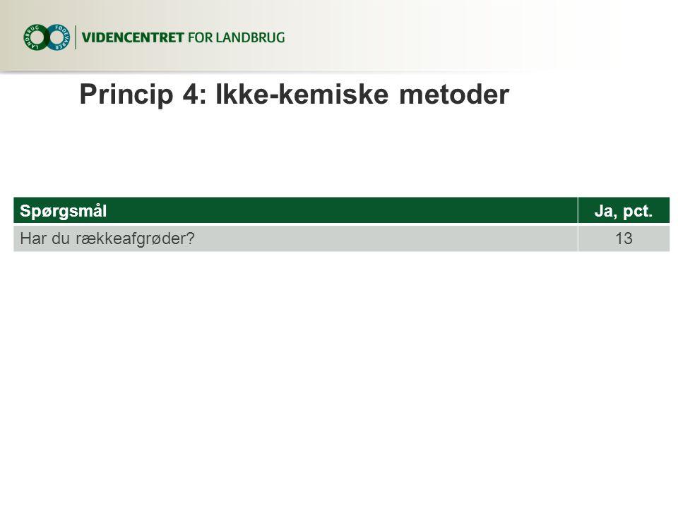Princip 4: Ikke-kemiske metoder