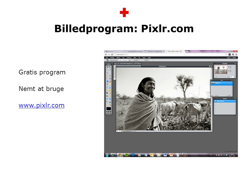 Billedprogram: Pixlr.com