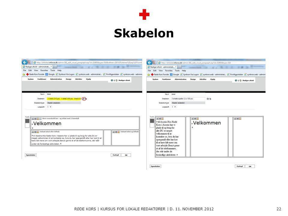 Røde Kors | kursus for lokale redaktører | d. 11. november 2012