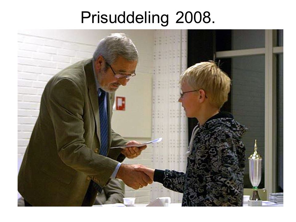 Prisuddeling 2008.