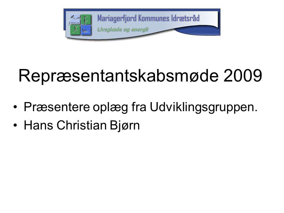 Repræsentantskabsmøde 2009