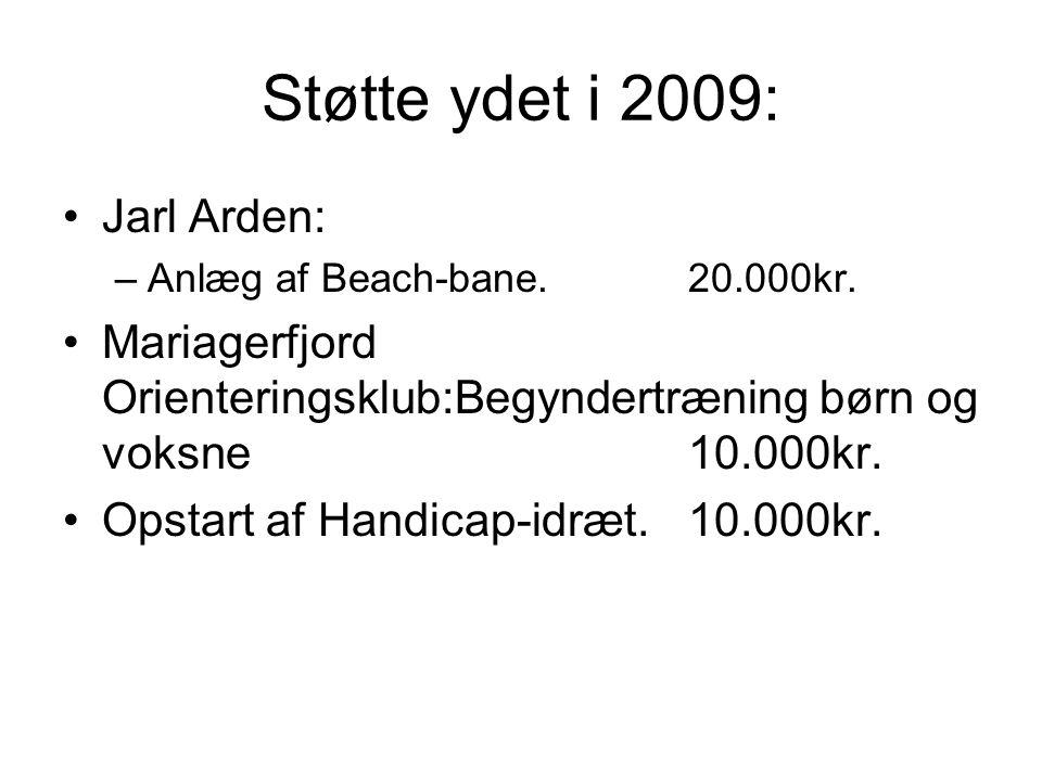Støtte ydet i 2009: Jarl Arden:
