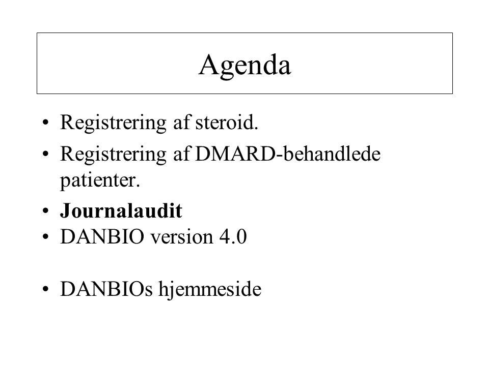 Agenda Registrering af steroid.