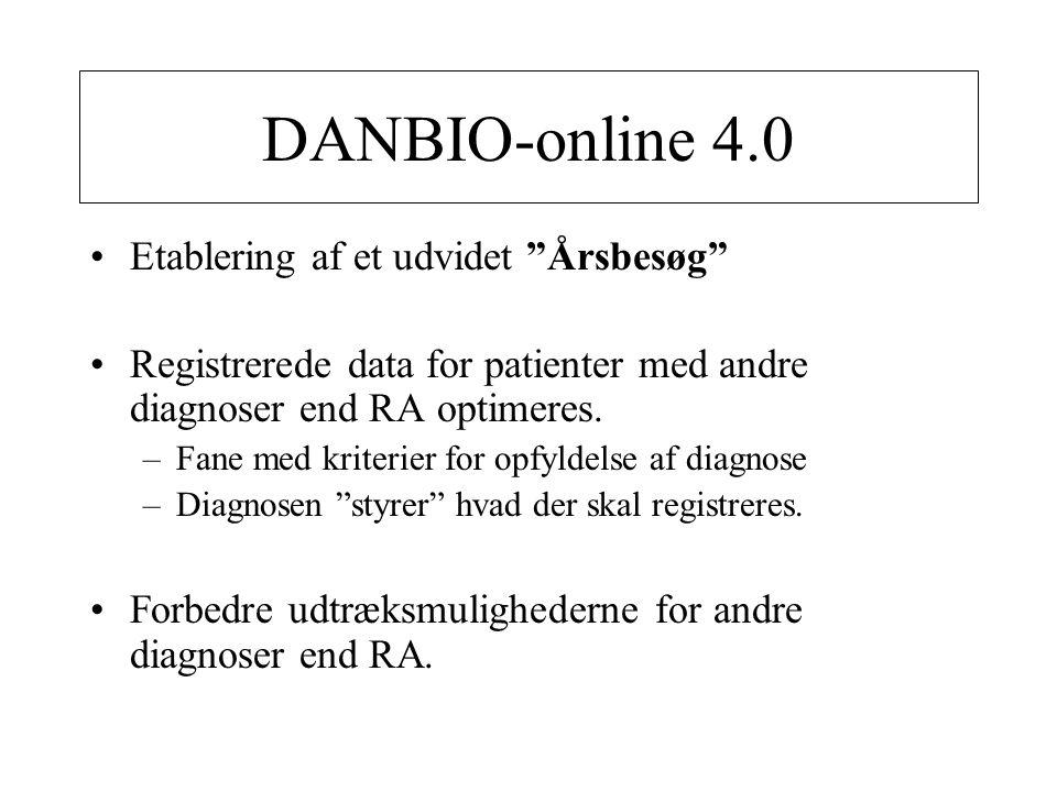 DANBIO-online 4.0 Etablering af et udvidet Årsbesøg