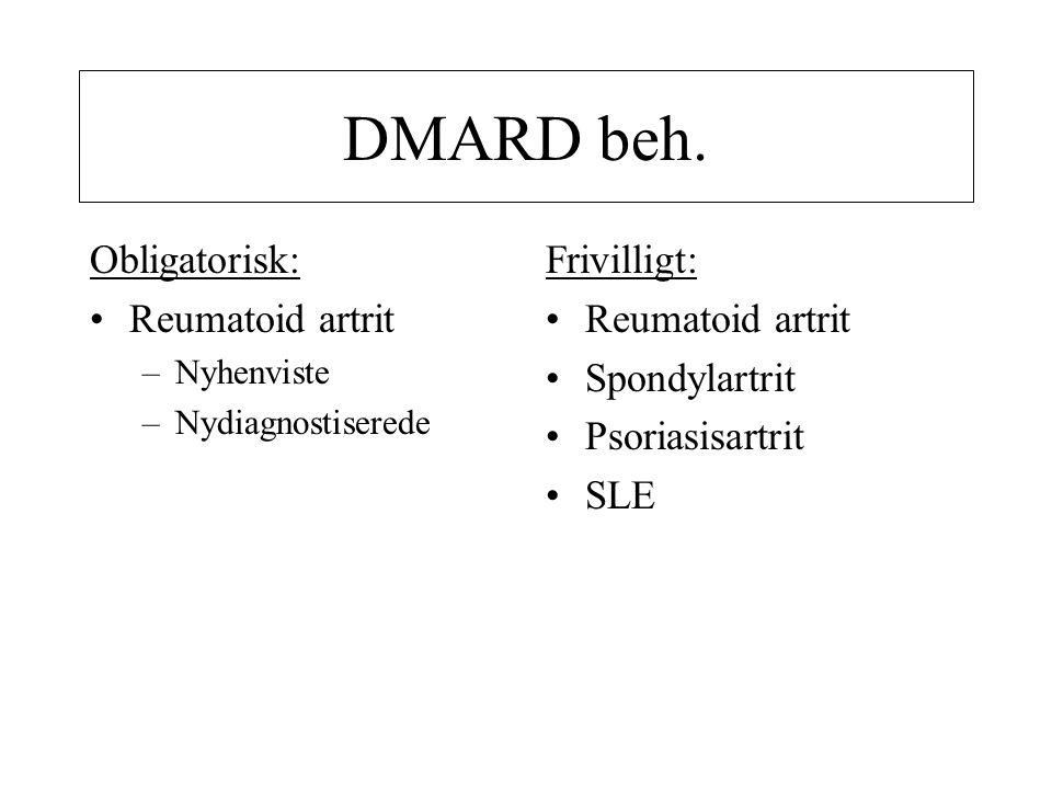 DMARD beh. Obligatorisk: Reumatoid artrit Frivilligt: Reumatoid artrit