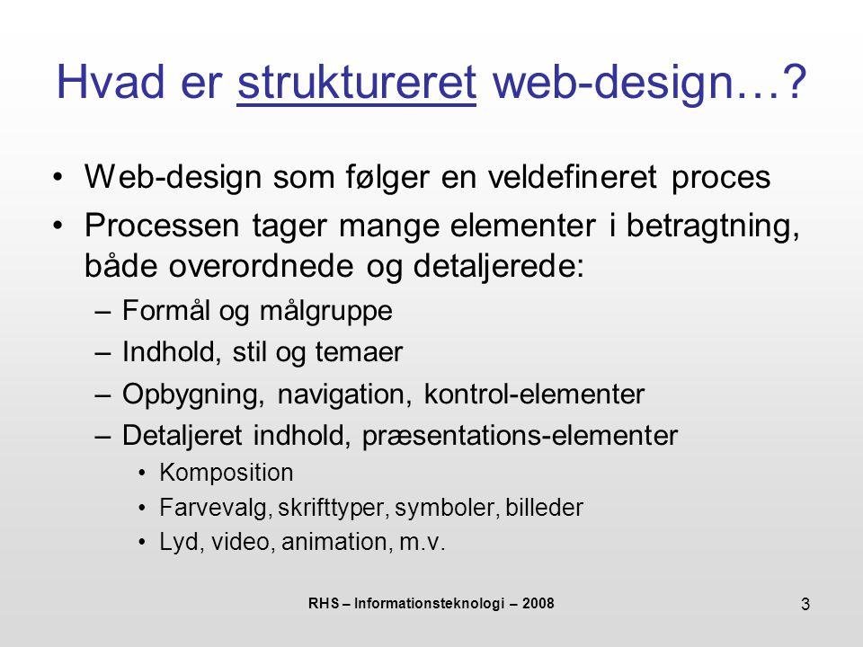 Hvad er struktureret web-design…
