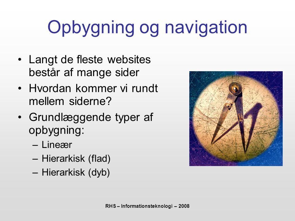 Opbygning og navigation