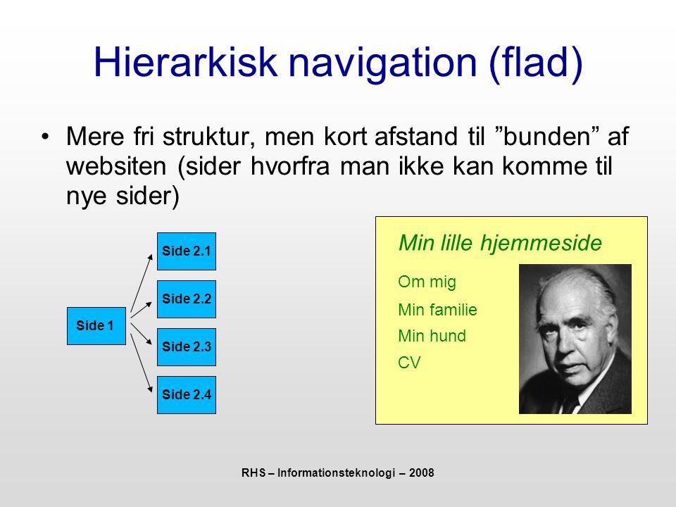 Hierarkisk navigation (flad)