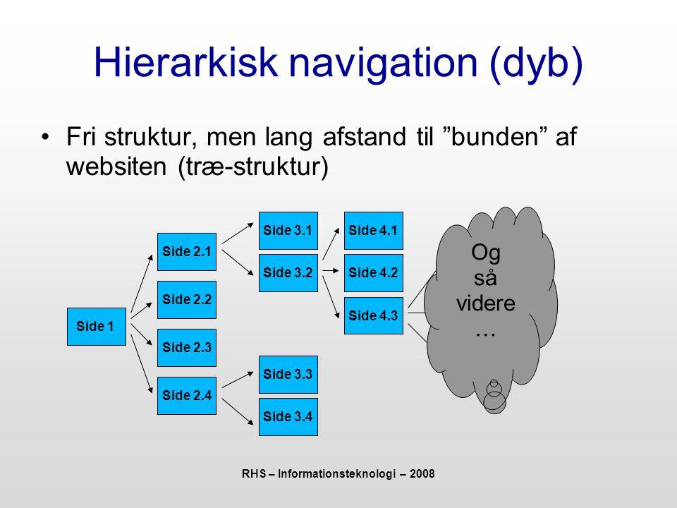 Hierarkisk navigation (dyb)