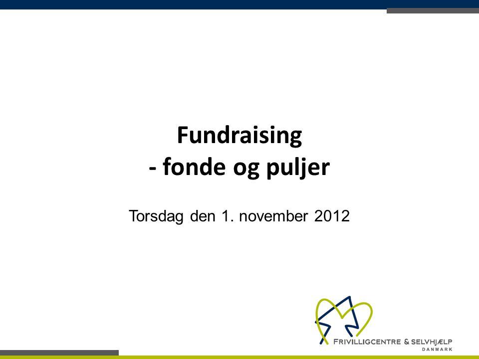Fundraising - fonde og puljer