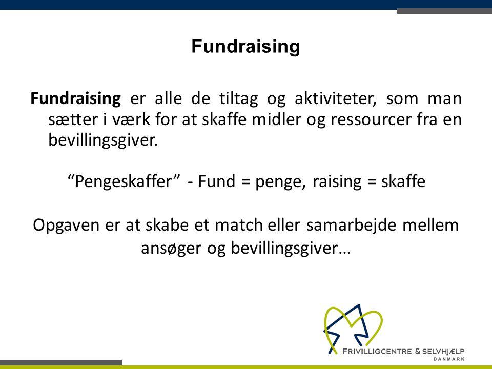Pengeskaffer - Fund = penge, raising = skaffe