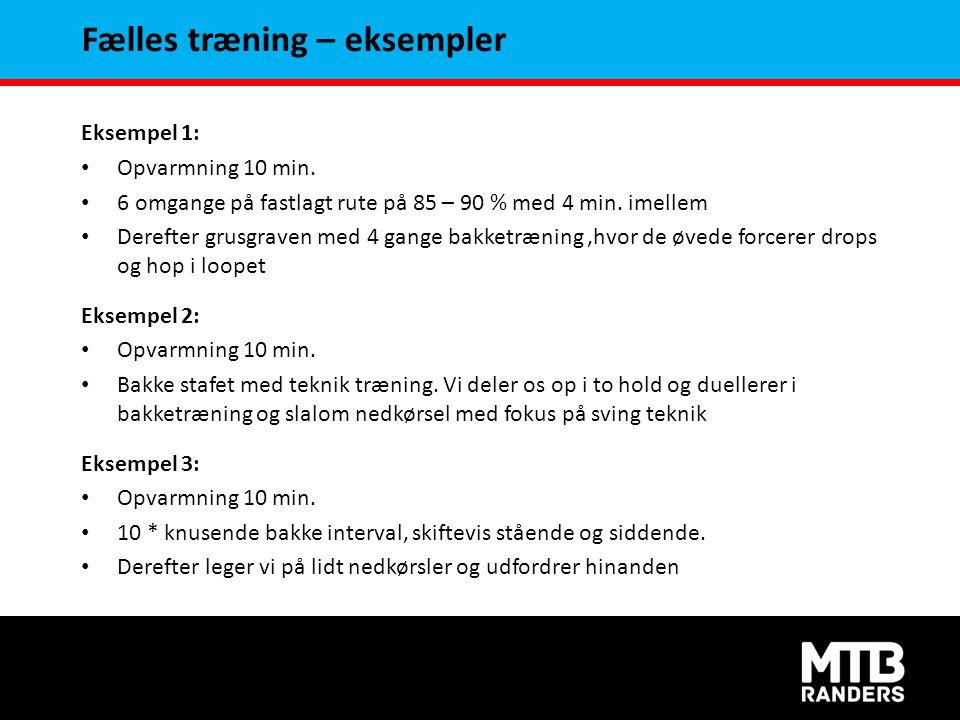 Fælles træning – eksempler