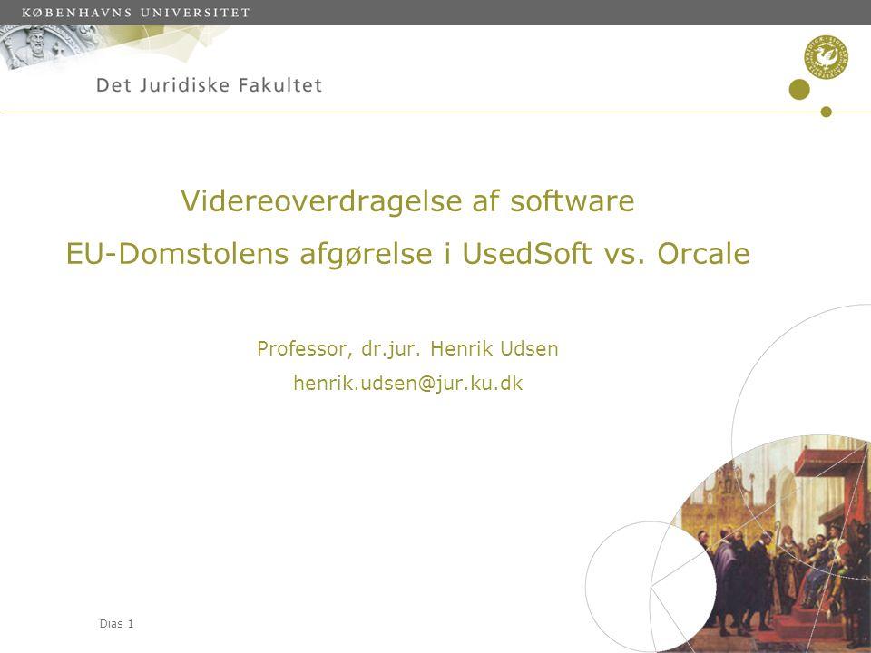 Videreoverdragelse af software EU-Domstolens afgørelse i UsedSoft vs