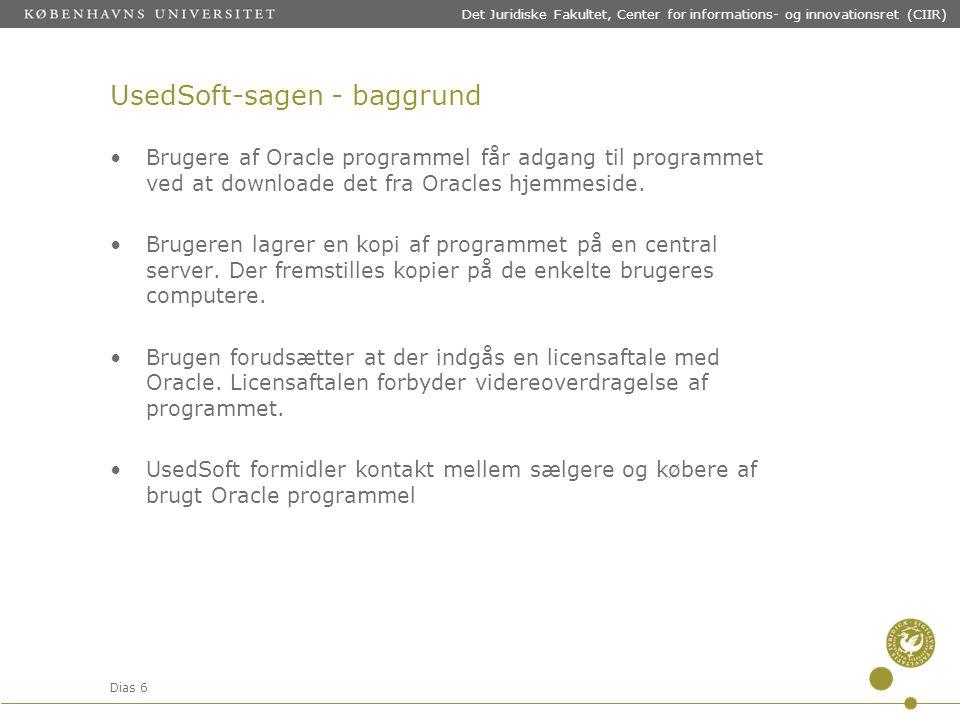 UsedSoft-sagen - baggrund