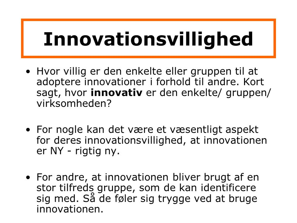 Innovationsvillighed