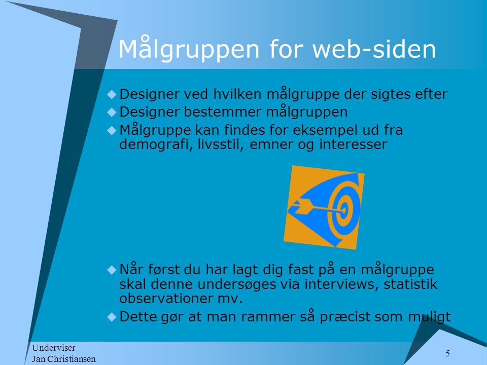 Målgruppen for web-siden
