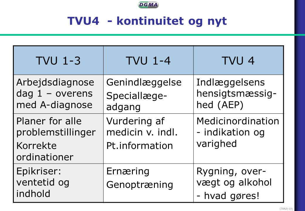 TVU4 - kontinuitet og nyt