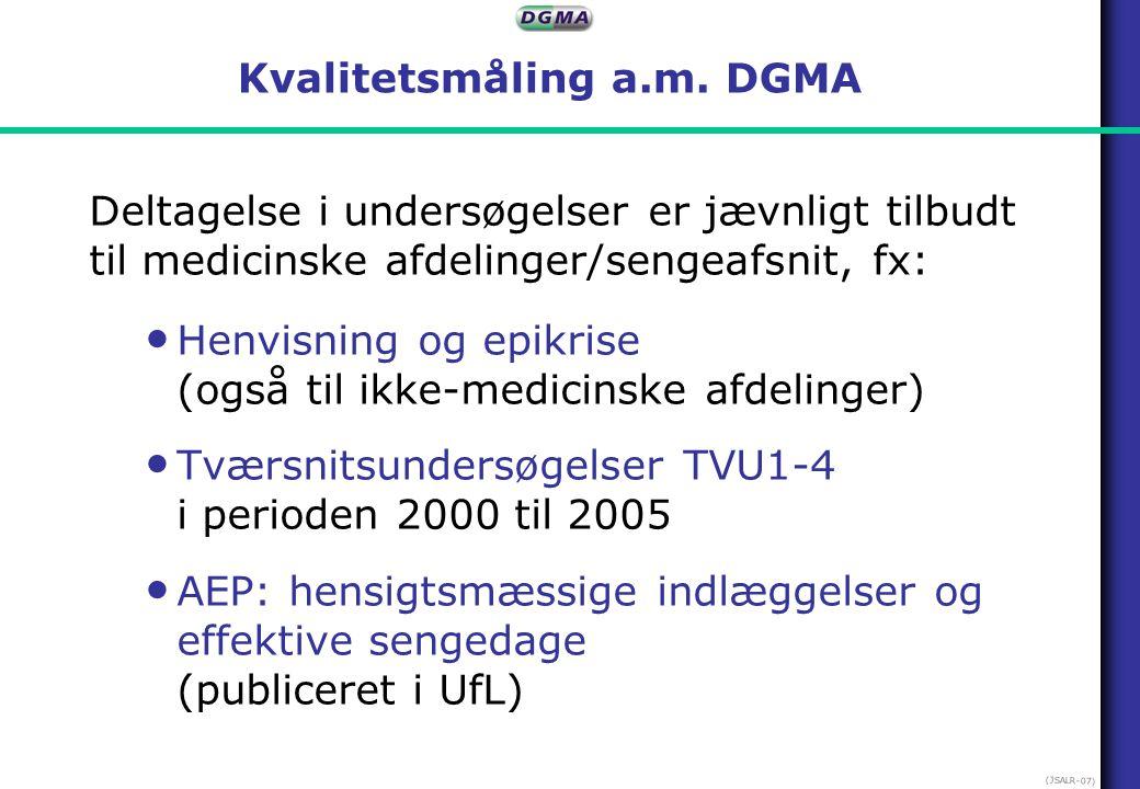 Kvalitetsmåling a.m. DGMA