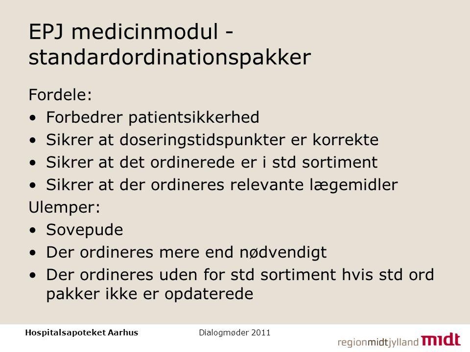 EPJ medicinmodul - standardordinationspakker