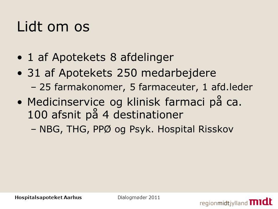 Lidt om os 1 af Apotekets 8 afdelinger