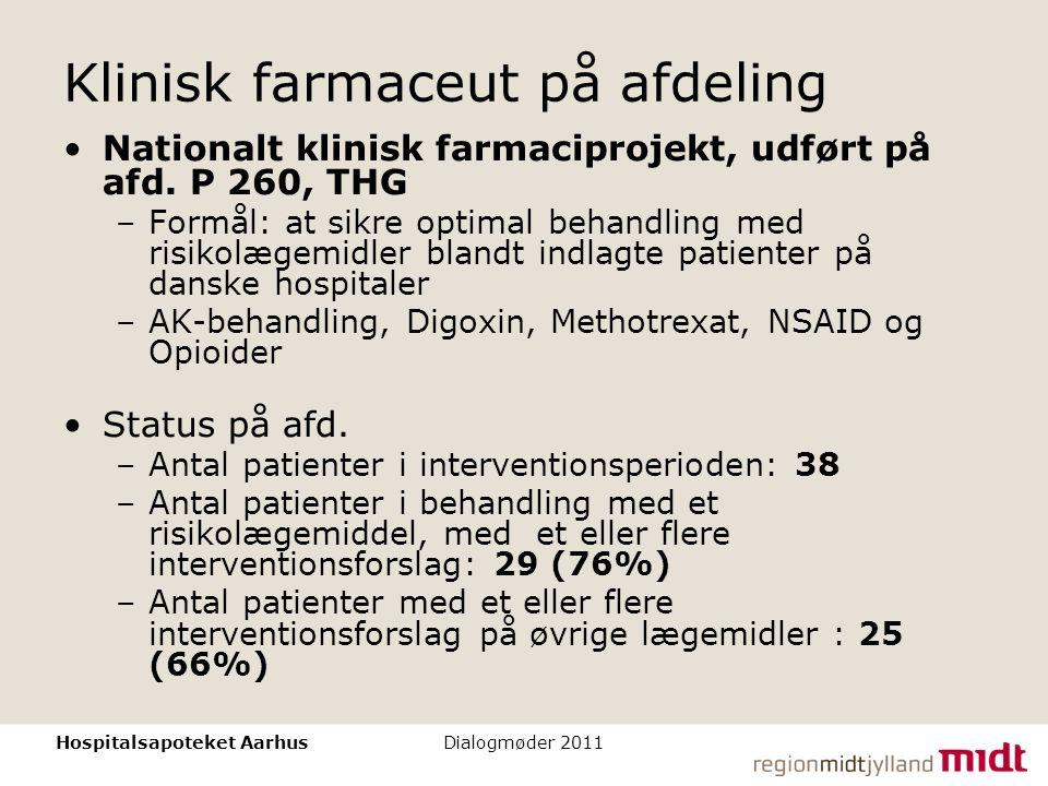 Klinisk farmaceut på afdeling
