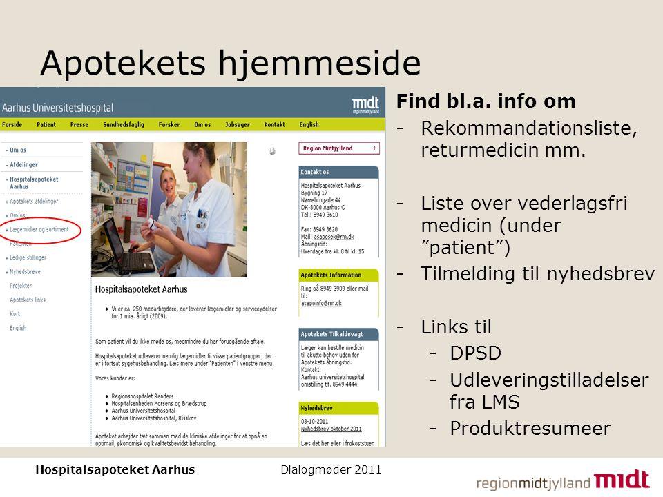 Apotekets hjemmeside Find bl.a. info om