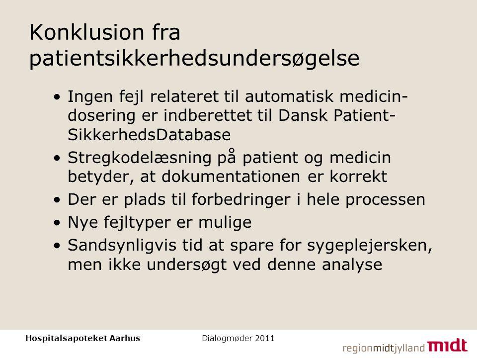 Konklusion fra patientsikkerhedsundersøgelse