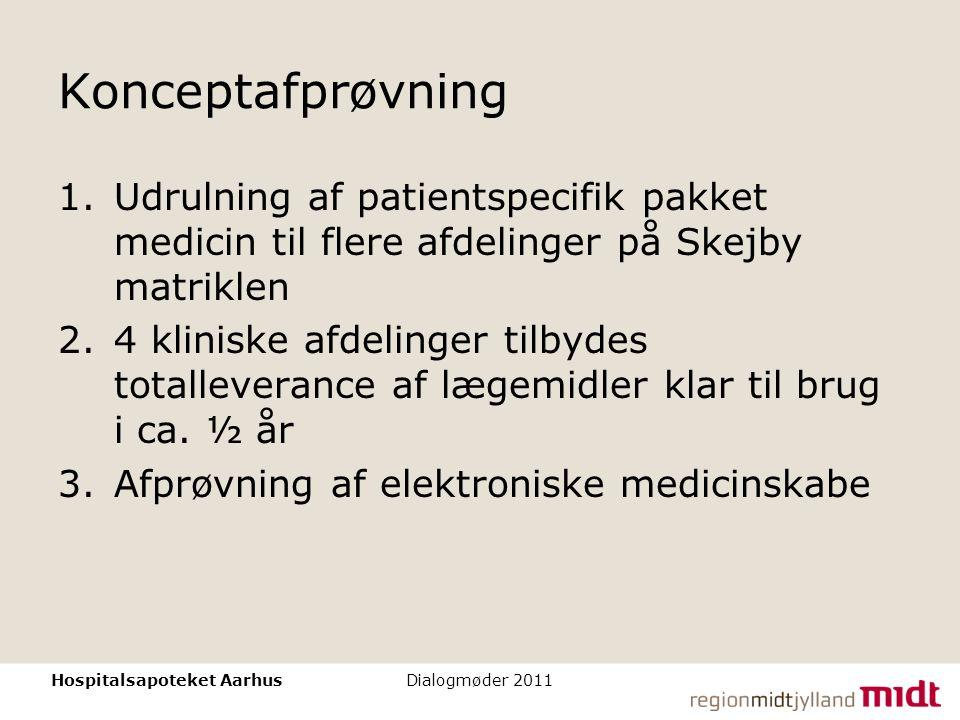 Konceptafprøvning Udrulning af patientspecifik pakket medicin til flere afdelinger på Skejby matriklen.