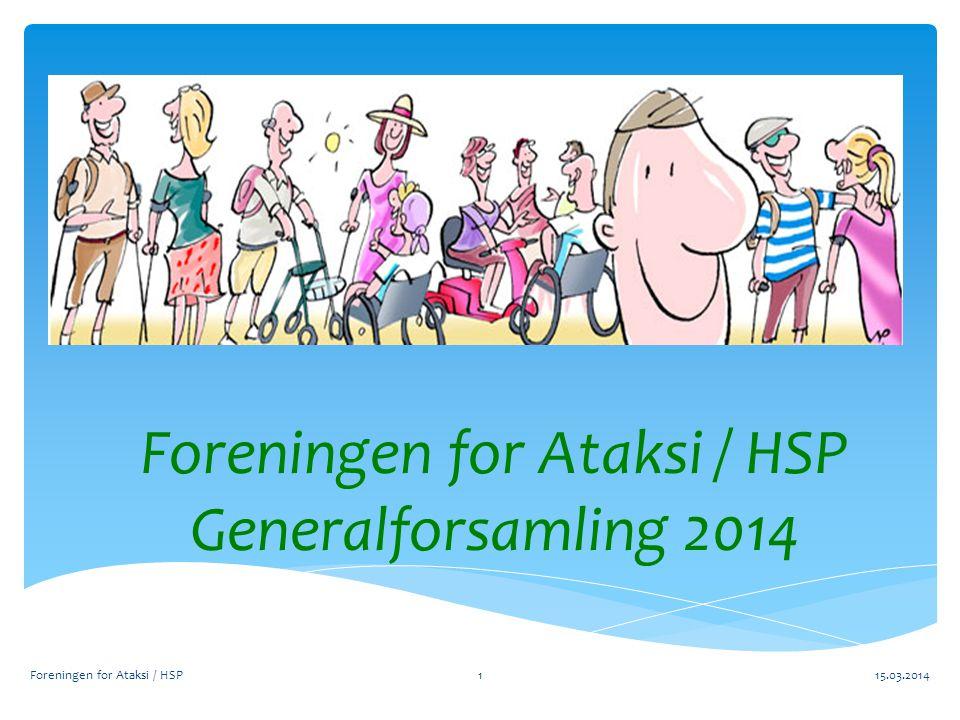 Foreningen for Ataksi / HSP Generalforsamling 2014